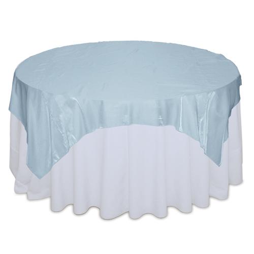 Light Blue Organza Satin Table Overlay Rental Light Blue Organza Satin Overlay Rental