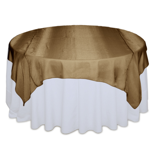 Copper Sheer Table Overlay Rental Copper Sheer Overlay Rental