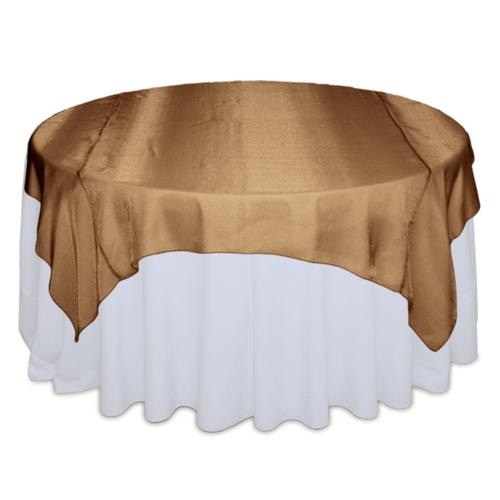 Cinnamon Sheer Table Overlay Rental Cinnamon Sheer Overlay Rental