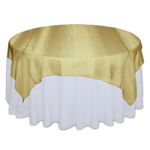 Gold Sheer Table Overlay Rental Gold Sheer Overlay Rental