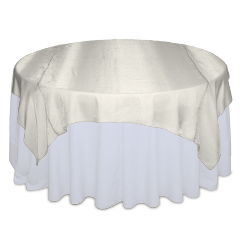Ivory Sheer Table Overlay Rental Ivory Sheer Overlay Rental