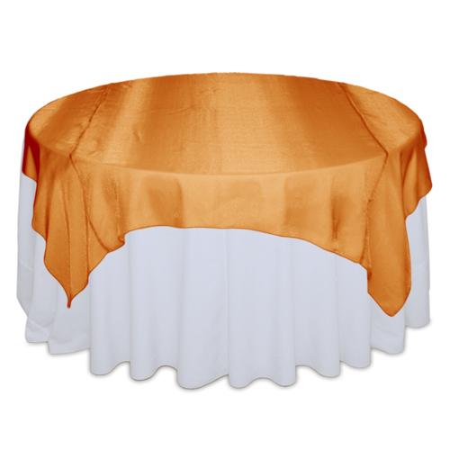 Orange Sheer Table Overlay Rental Orange Sheer Overlay Rental