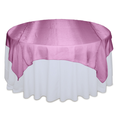 Pink Raspberry Sheer Overlay Rental Pink Raspberry Sheer Tab;e Overlay Rental