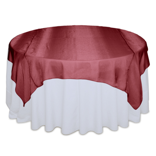 Red Raspberry Sheer Table Overlay Rental Red Raspberry Sheer Overlay Rental