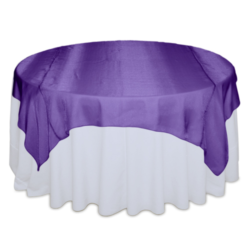 Purple Sheer Table Overlay Rental Purple Sheer Overlay Rental