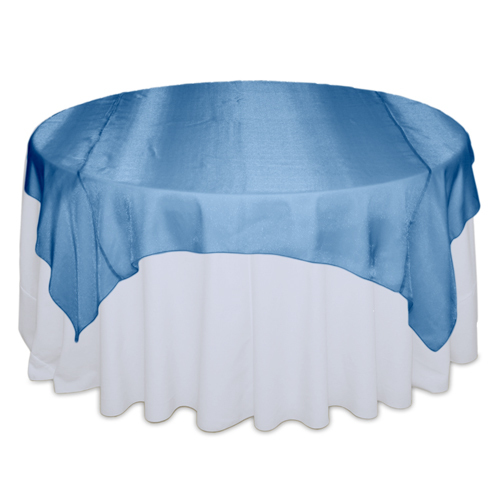 Ocean Blue Sheer Table Overlay Rental