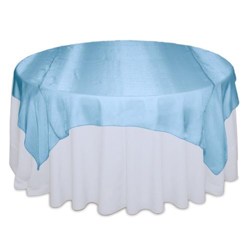 Turquoise Sheer Table Overlay Rental Turquoise Sheer Overlay Rental