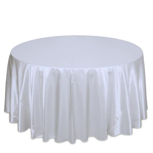 White Satin Tablecloths White Polyester Satin Tablecloth Rentals