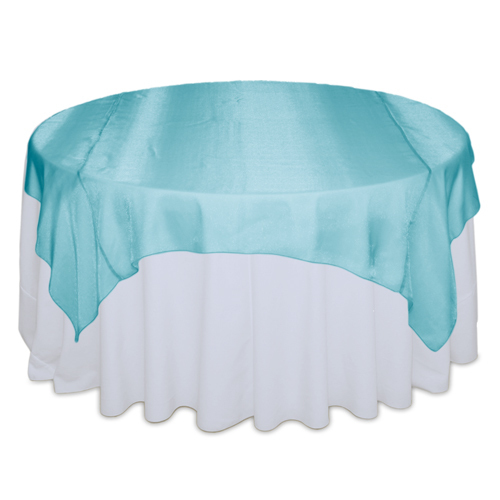 Tiffany Blue Sheer Table Overlay Rental Tiffany Blue Sheer Overlay Rental