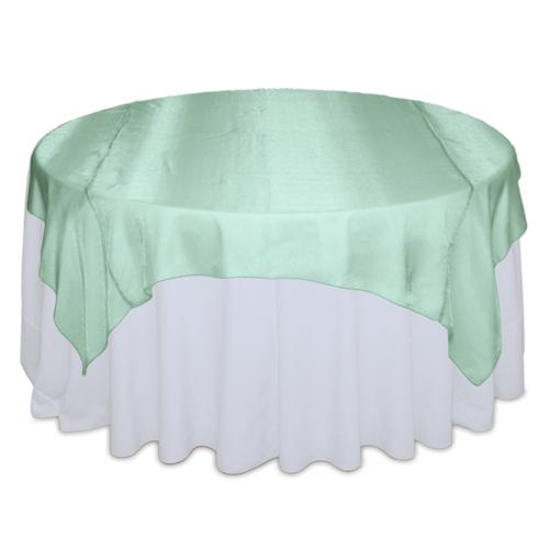 Mint Green Sheer Table Overlay Rental Mint Green Sheer Overlay Rental