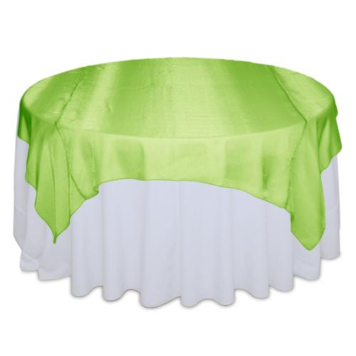 Lime Green Sheer Table Overlay Rental Lime Green Sheer Overlay Rental