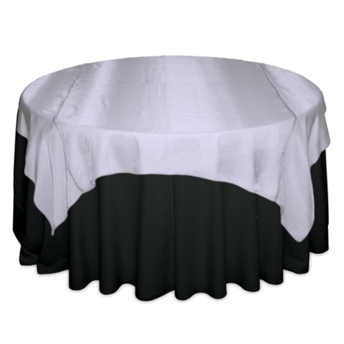 White Sheer Table Overlay Rental White Sheer Overlay Rental