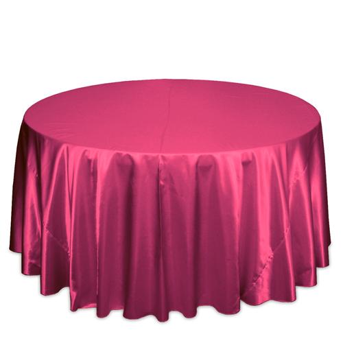 Hot Pink Satin Tablecloths Hot Pink Polyester Satin Tablecloth Rentals
