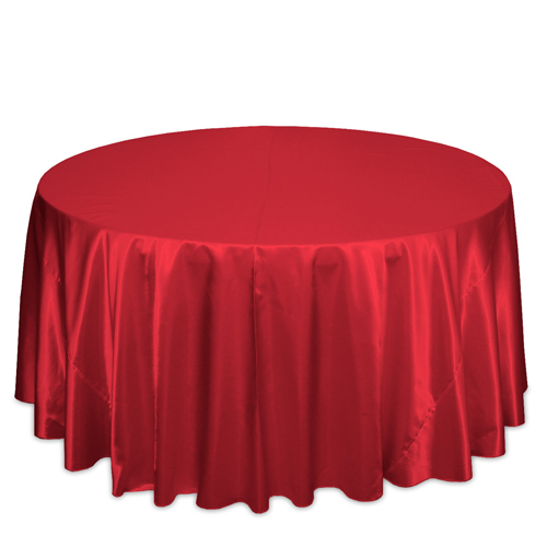 Red Satin Tablecloths Red Polyester Satin Tablecloth Rentals