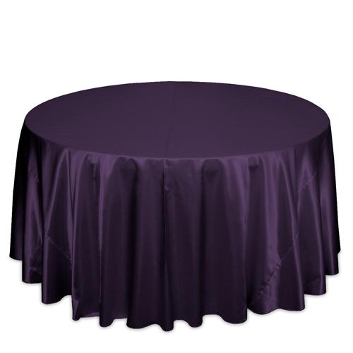 Plum Satin Tablecloths Plum Polyester Satin Tablecloth Rentals