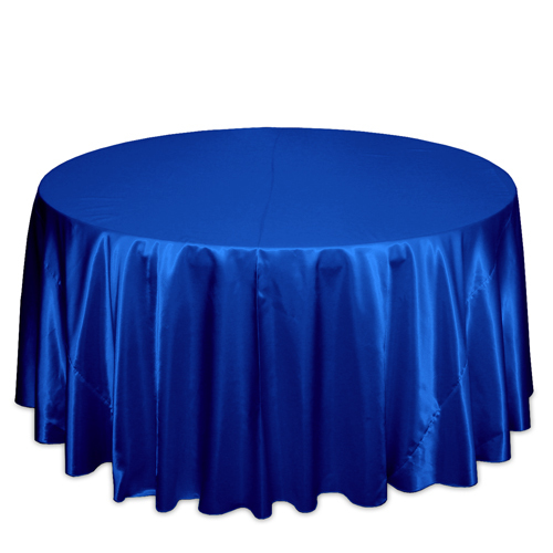 Royal Blue Satin Tablecloths Royal Blue Polyester Satin Tablecloth Rentals