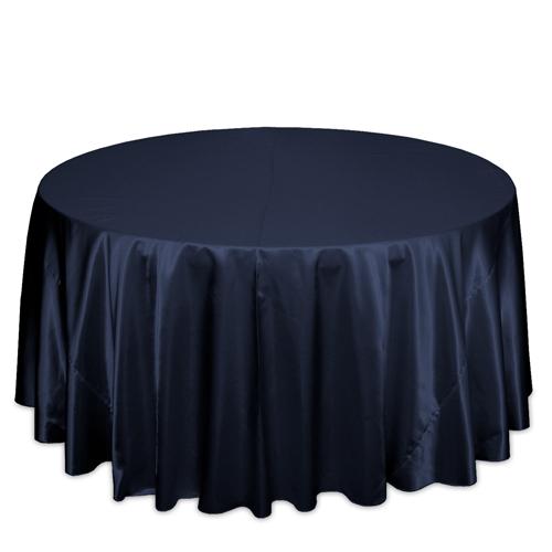 Navy Satin Tablecloths Navy Polyester Satin Tablecloth Rentals