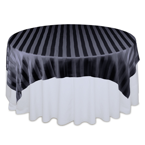 Black Sheer Stripe Overlay Rental Black Sheer Stripe Overlay Rental