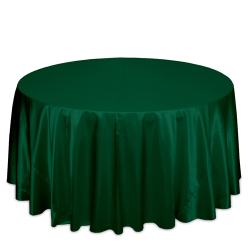 Hunter Green Satin Tablecloths Hunter Green Polyester Satin Tablecloth Rentals