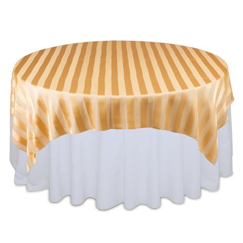Gold Sheer Stripe Overlay Rental Gold Sheer Stripe Overlay Rental
