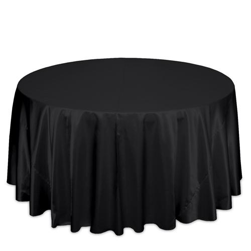 Black Satin Tablecloths Black Polyester Satin Tablecloth Rental