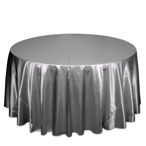 Silver Satin Tablecloths Silver Polyester Satin Tablecloth Rentals