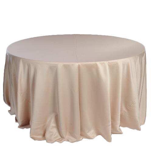 Champagne Lamour Matte Satin Tablecloth Rentals Champagne Lamour Matte Satin Tablecloth Rentals