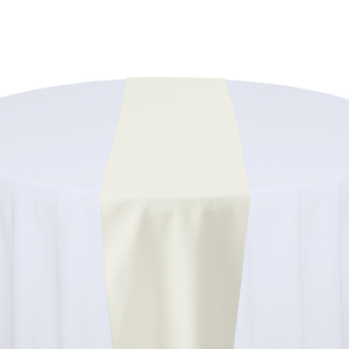 Ivory Solid Polyester Table Runner Rental Ivory Solid Polyester Table Runner Rental
