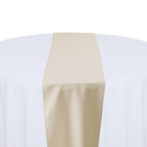 Beige Table Runner Rental - Solid Polyester