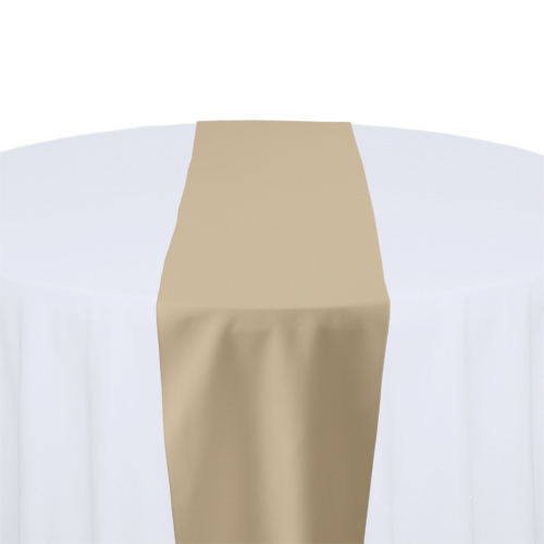 Camel Solid Polyester Table Runner Rental