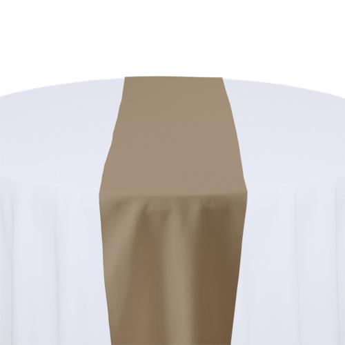 Khaki Solid Polyester Table Runner Rental