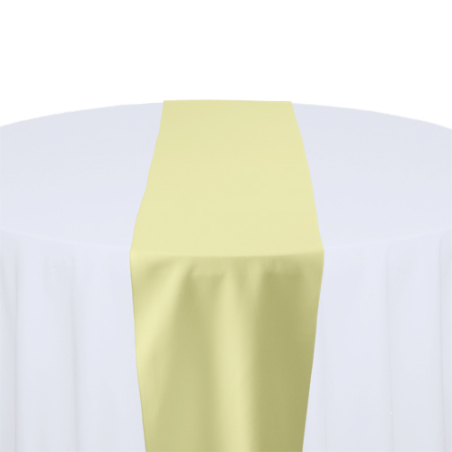 Maize Solid Polyester Table Runner Rental Maize Solid Polyester Table Runner Rental
