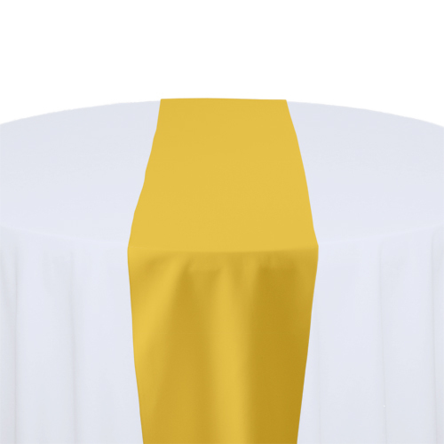 Goldenrod Solid Polyester Table Runner Rental