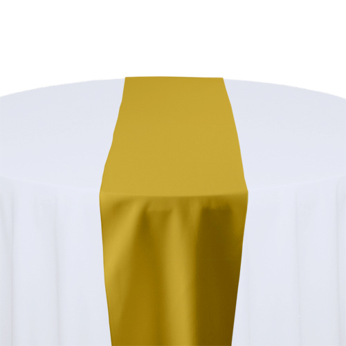Gold Solid Polyester Table Runner Rental