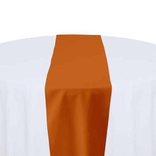 Orange Solid Polyester Table Runner Rental Orange Solid Polyester Table Runner Rental