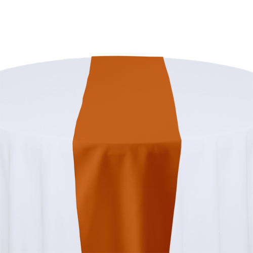 Orange Solid Polyester Table Runner Rental