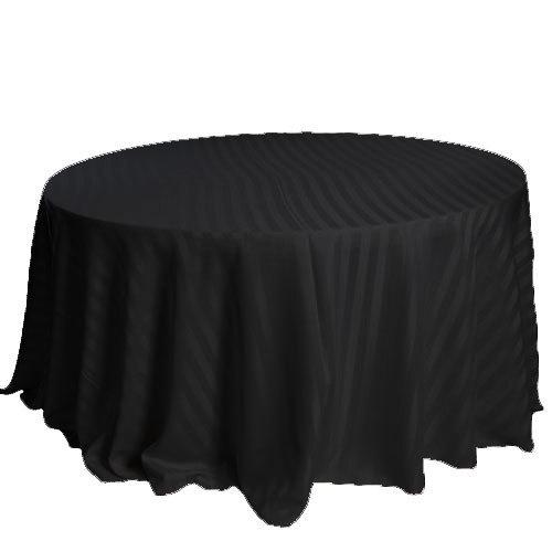 Black Satin Stripe Tablecloth Rental Black Satin Stripe Tablecloth Rental