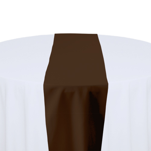 Brown Table Runner Rental - Solid Polyester Brown Solid Polyester Table Runner Rental