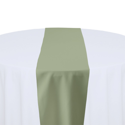 Celadon Solid Polyester Table Runner Rental