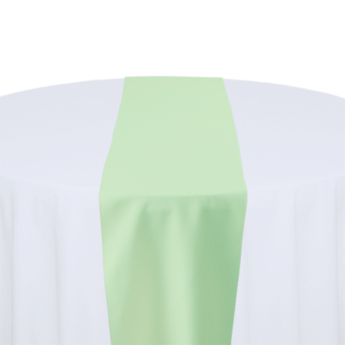 Mint Green Solid Polyester Table Runner Rental Mint Solid Polyester Table Runner Rental