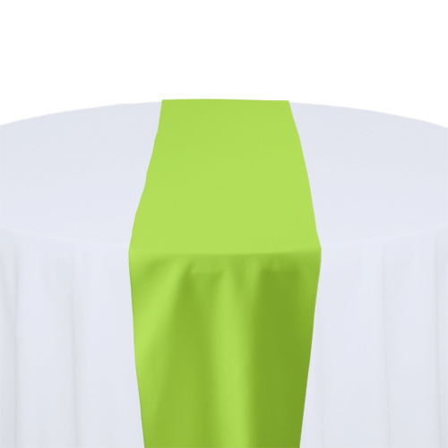 Lime Solid Polyester Table Runner Rental