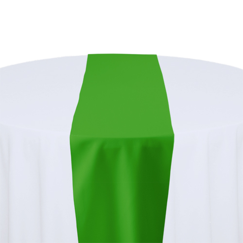 Kelly Solid Polyester Table Runner Rental