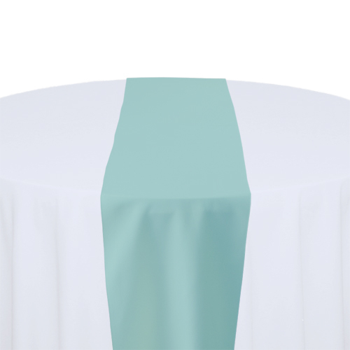 Aqua Solid Polyester Table Runner Rental Aqua Solid Polyester Table Runner Rental