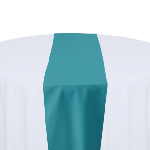 Turquoise Solid Polyester Table Runner Rental Turquoise Solid Polyester Table Runner Rental