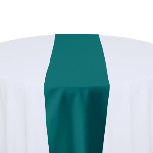 Teal Solid Polyester Table Runner Rental Teal Solid Polyester Table Runner Rental
