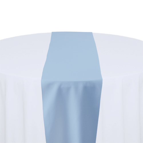 Light Blue Solid Polyester Table Runner Rental Light Blue Solid Polyester Table Runner Rental