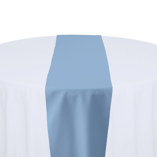 Powder Blue Solid Polyester Table Runner Rental