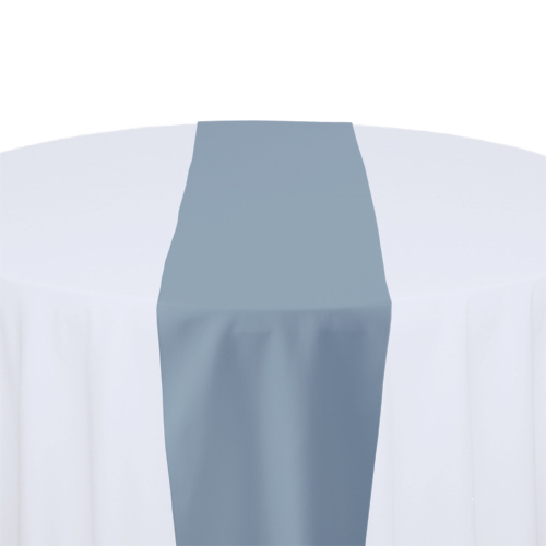 Slate Solid Polyester Table Runner Rental Slate Solid Polyester Table Runner Rental