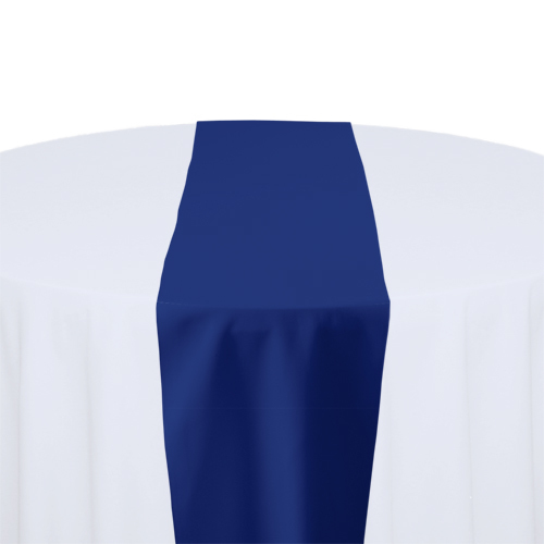Royal Blue Solid Polyester Table Runner Rental