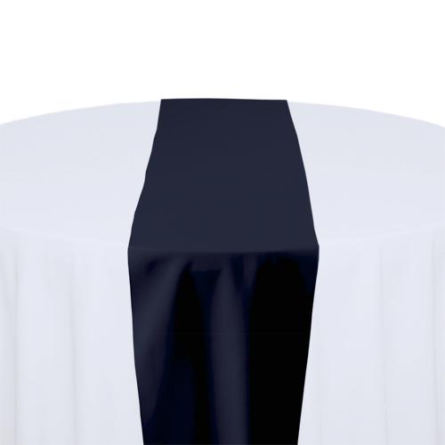 Navy Solid Polyester Table Runner Rental Navy Solid Polyester Table Runner Rental